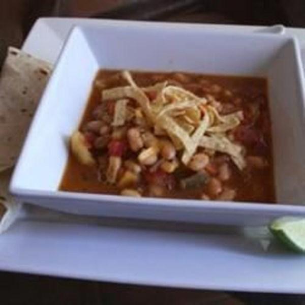 Receita mexicana de sopa de feijão e abóbora