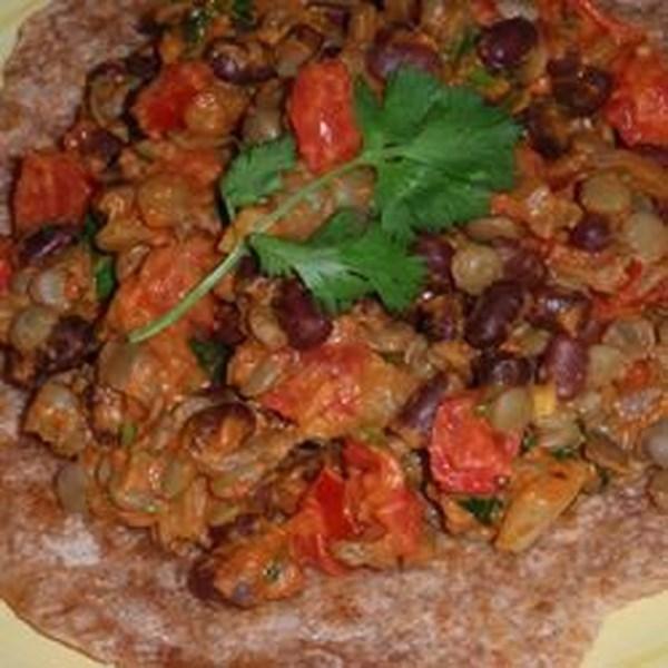 Receita de Espinafre, Lentilha Vermelha e Curry de Feijão