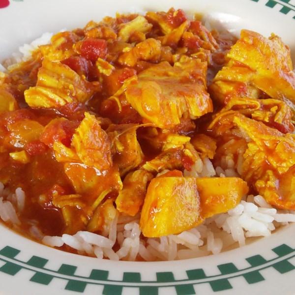 Receita de Frango com Curry de Coco de Pote Instantâneo (R)