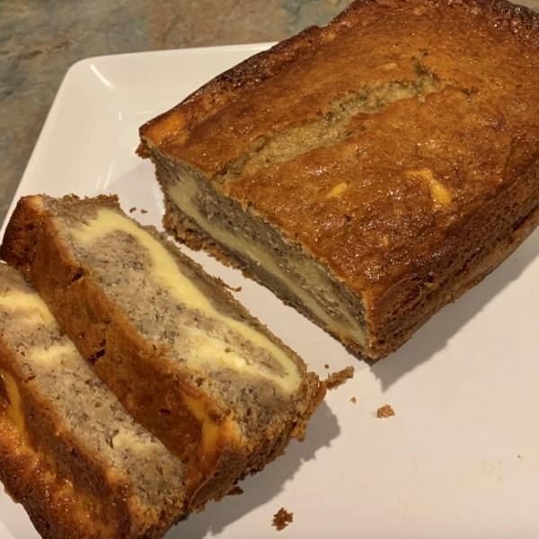 Receita de Pão de Banana de Queijo Creme