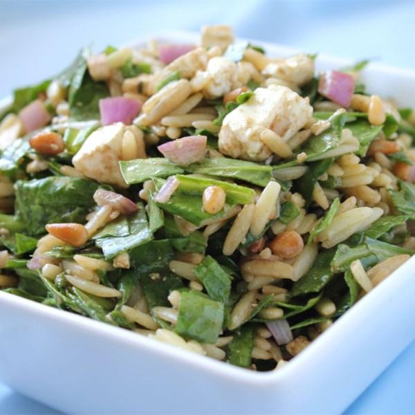 Receita de Salada de Espinafre e Orzo