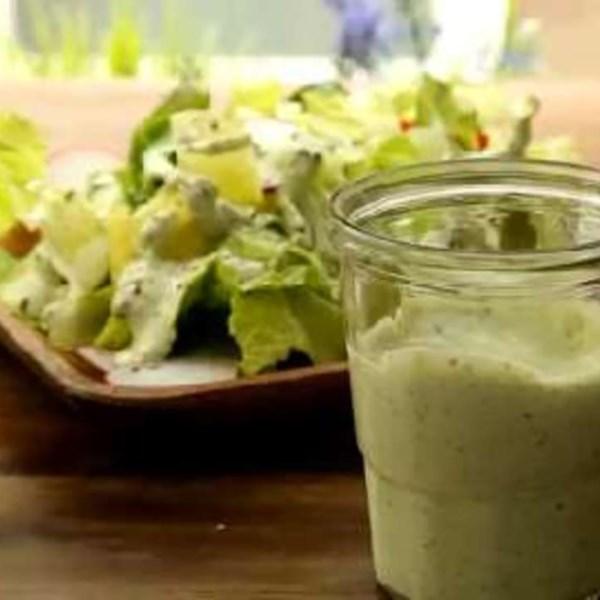 Receita de Molho de Salada da Deusa Verde