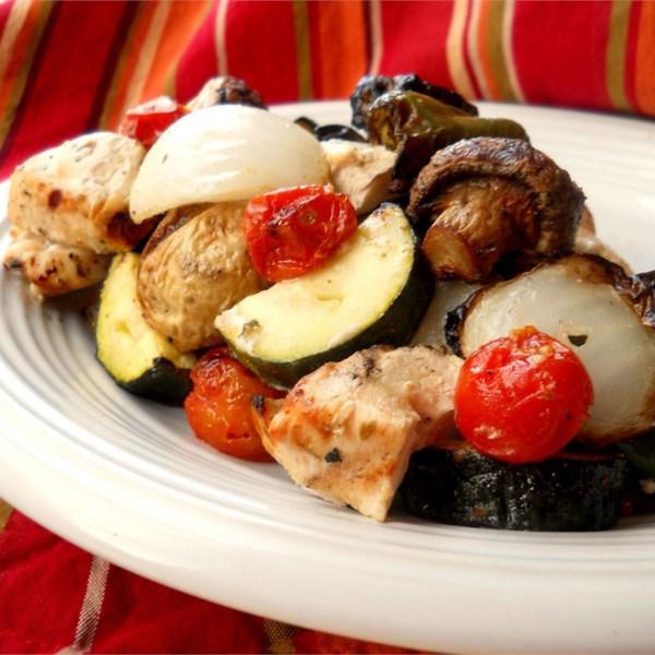 Receita de Kebabs de Frango da Ilha Grega