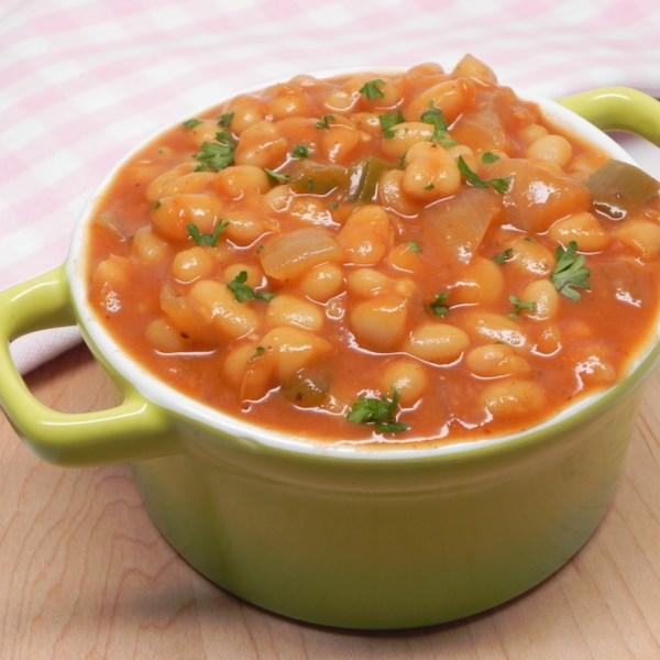 Feijão Cozido Vegetariano com Receita de Feijão Enlatado