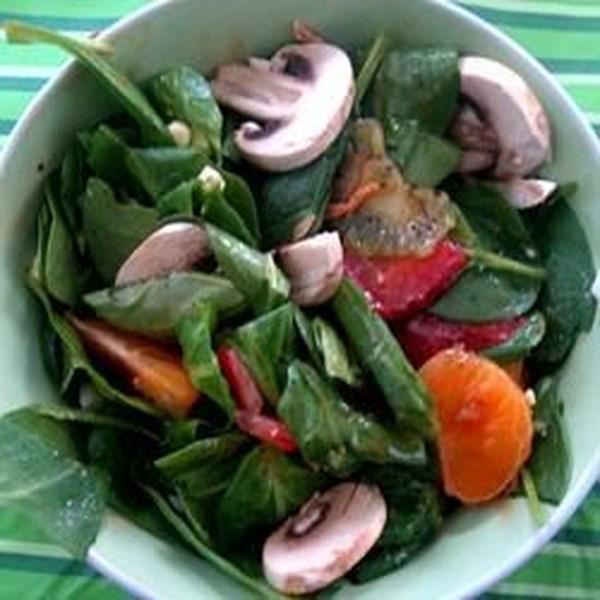 Receita de Salada de Espinafre da Primavera