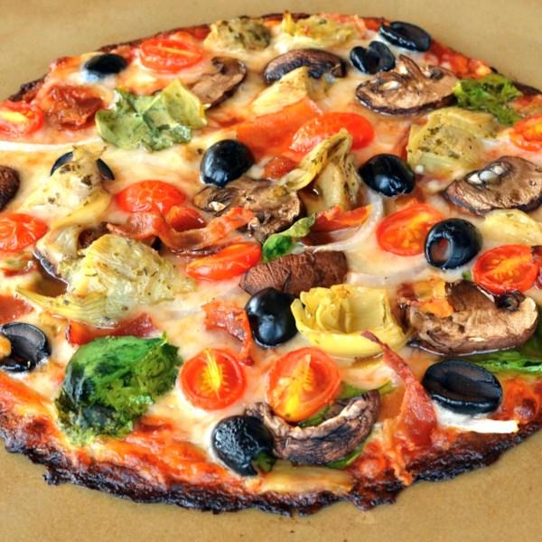 Receita de Pizza de Couve-Flor de Bacon-Alcachofra