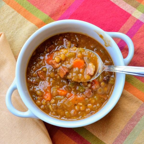 Receita de Sopa de Lentilha e Presunto Instantâneo