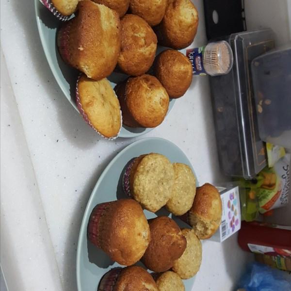Muffins de banana com receita de crunch