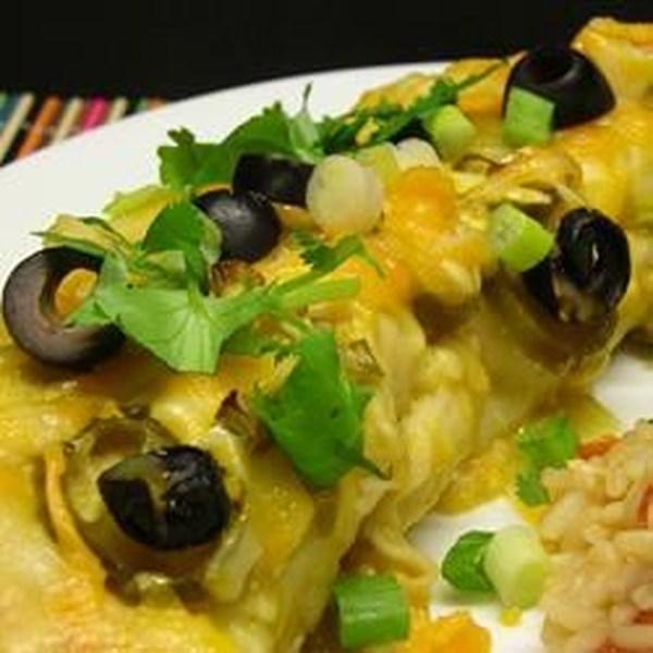 Receita de Enchilada de Frango Verde