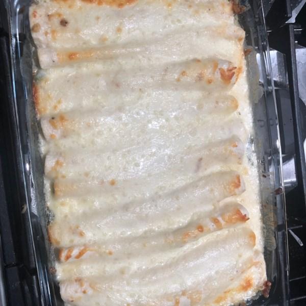 Receita de Espinafre Alfredo Enchiladas