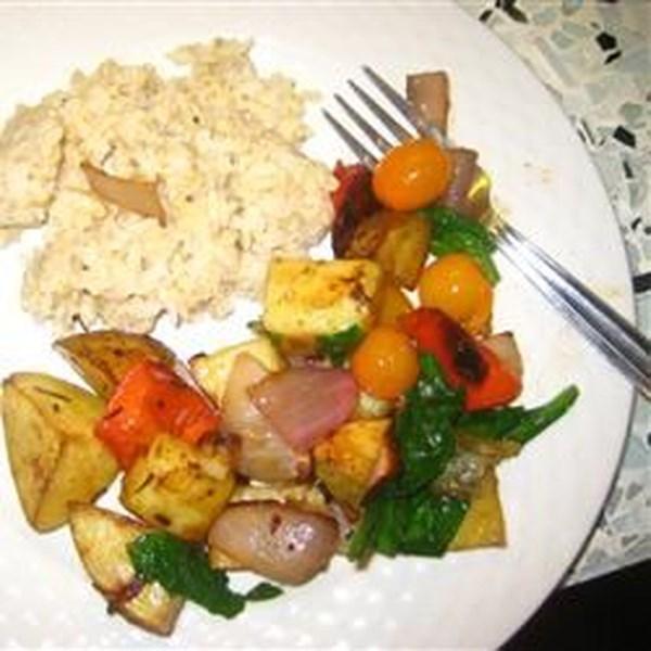 Receita de Salada Vegetal Assada Balsâmica