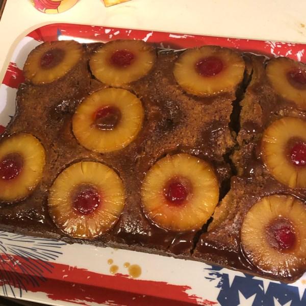 Receita de bolo de abacaxi picante de cabeça para baixo