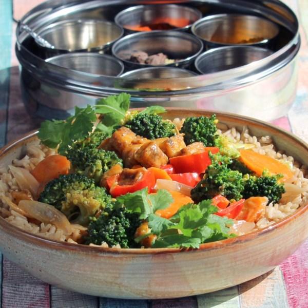Panang Curry com Receita de Tofu e Legumes
