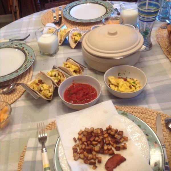 Receita de Tacos de Café da Manhã
