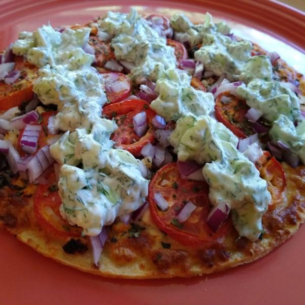 Receita de Pizza Vegetariana Grega