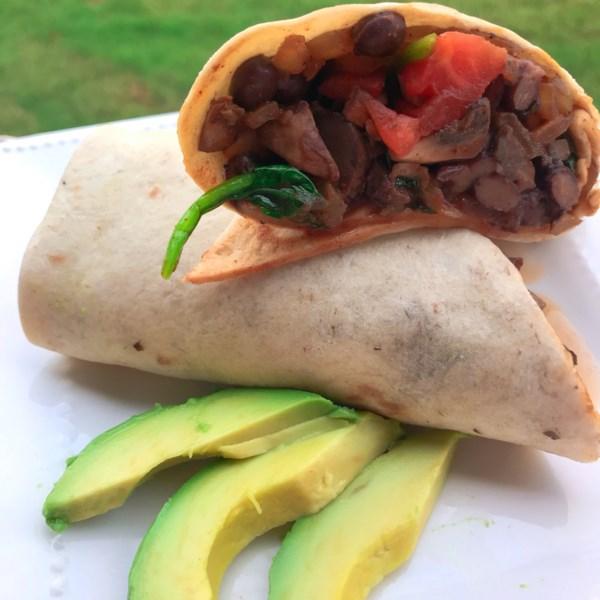 Receita de Burritos Completos de Legumes