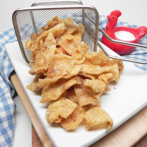 Receita de Pele de Frango Frito Crocante