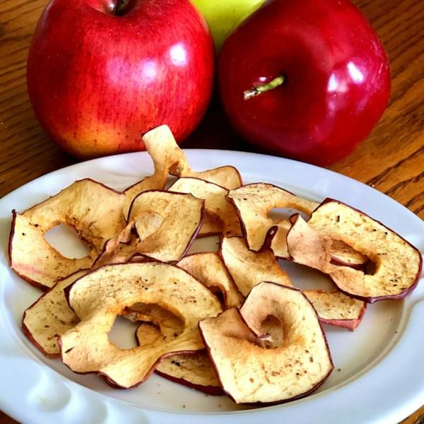 Receita de Chips de Maçã do Fritador de Ar
