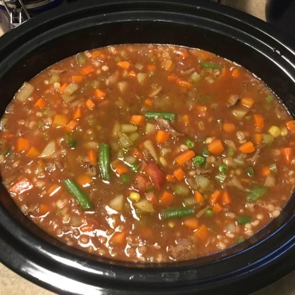 Receita de Sopa de Legumes de Cevada de Carne