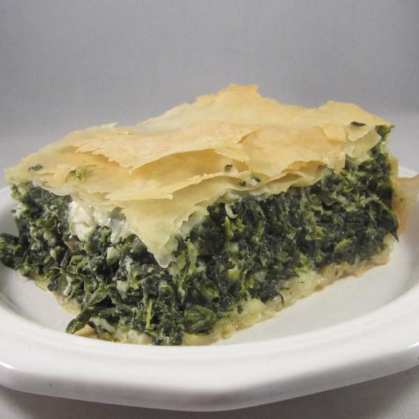 Receita de Torta de Espinafre de Maria Athans