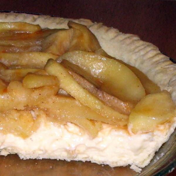 Receita de torta de creme de maçã à moda antiga