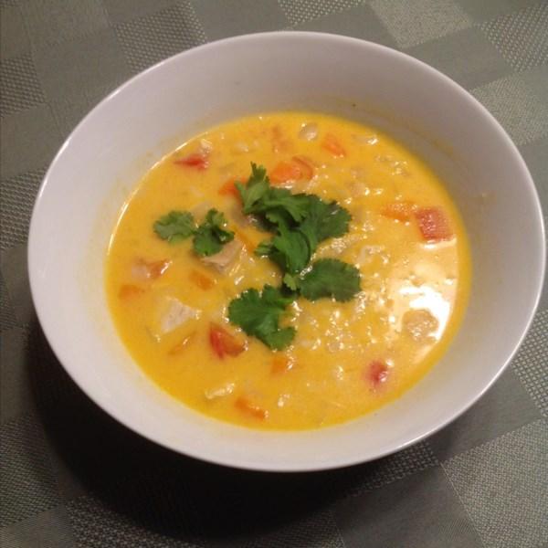 Sopa de Curry de Coco com Receita de Frango