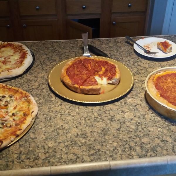 Receita de Pizza Recheada de Crosta Dupla