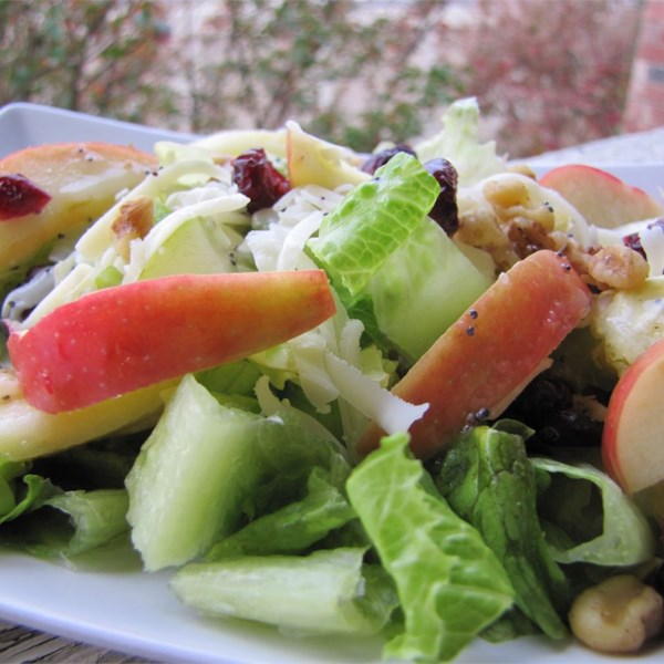 Salada de Frutas de Inverno com Receita de Molho de Papoula de Limão