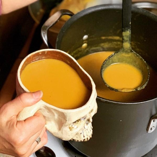 Receita de Abóbora com Manteiga com Curry e Receita de Bisque de Maçã
