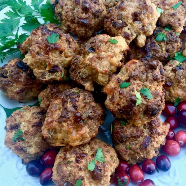 Receita de Bolas de Salsicha de Cranberry Picante