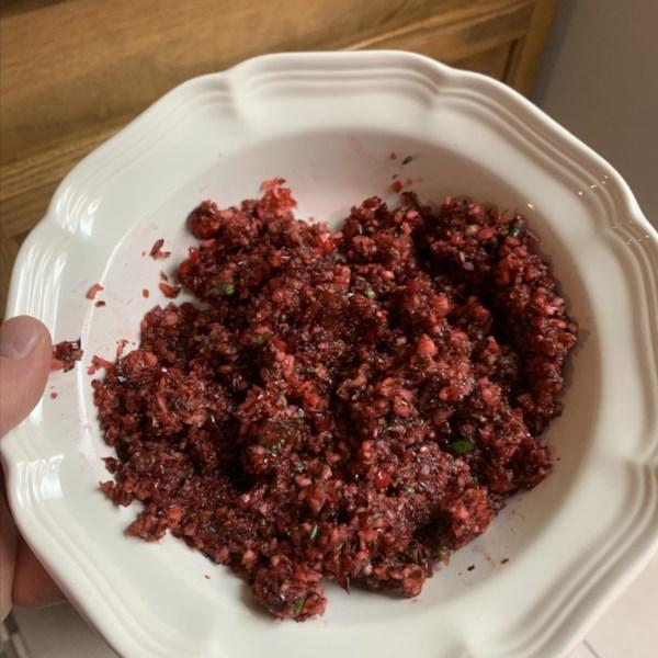 Receita de Salsa de Cranberry