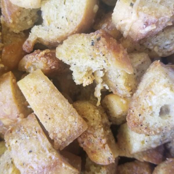 Receita de Croutons Caseiros do Chef John