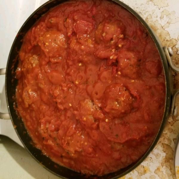 Molho de espaguete italiano com receita de almôndegas