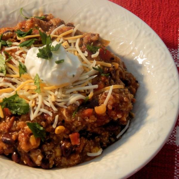 Ensopado de Enchilada de Peru Moído com Receita de Quinoa