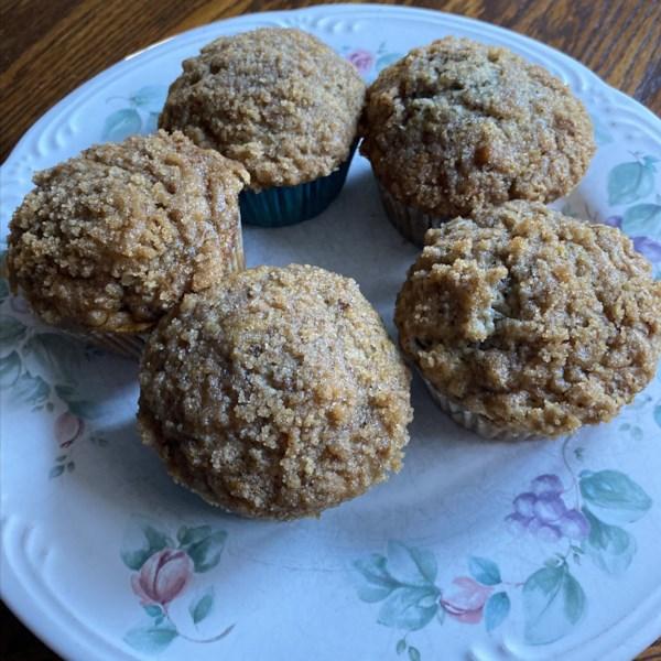 Receita de Muffins de Migalhas de Banana Mais Saudáveis