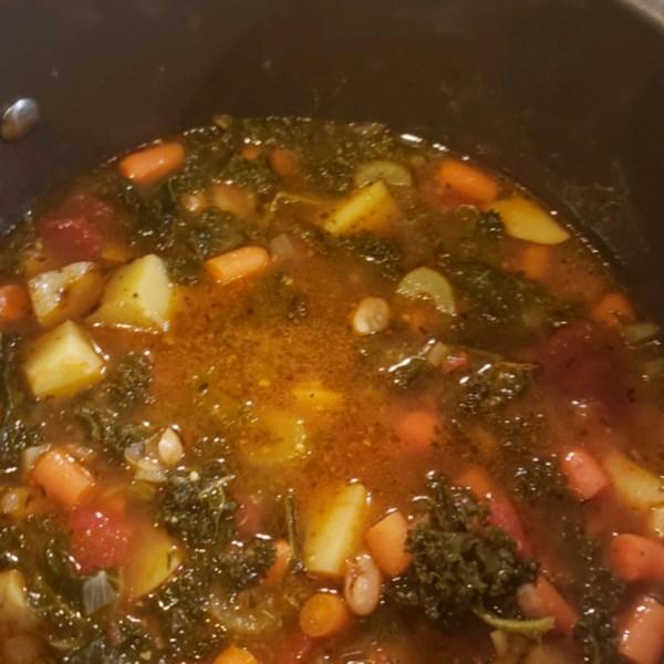 Receita de Sopa de Couve Vegetariana