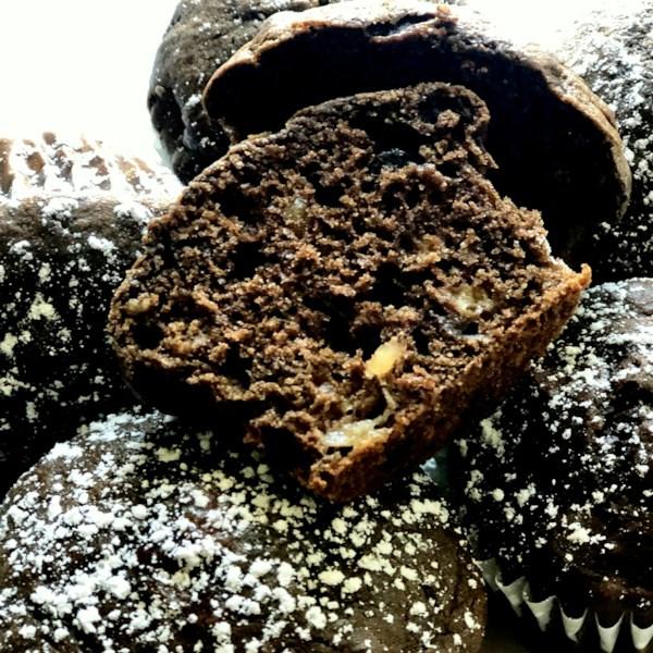 Receita de Muffins de Banana de Chocolate