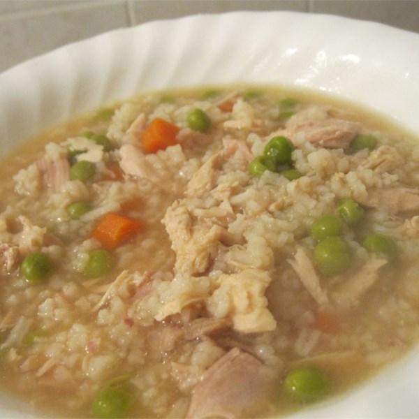 Receita de sopa de carcaça de peru do dia após o dia de Ação de Graças