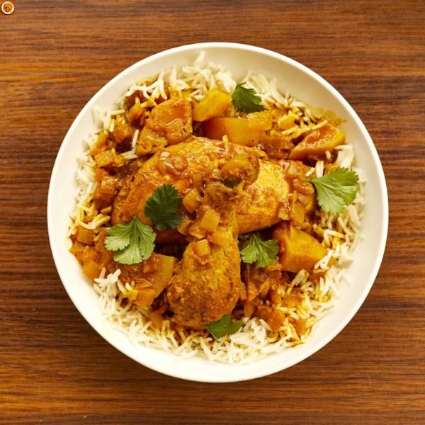 Receita de Frango Com Curry e Batatas
