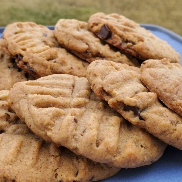 Receita de Biscoitos de Manteiga de Amêndoa de Chocolate Vegano