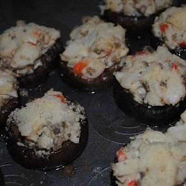 Receita de Cogumelos Recheados de Caranguejo II