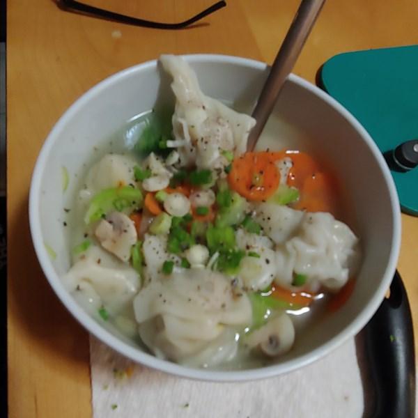 Receita caseira de sopa wonton
