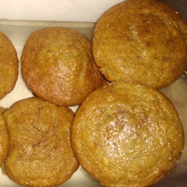 Receita de Muffins de Banana Vegan