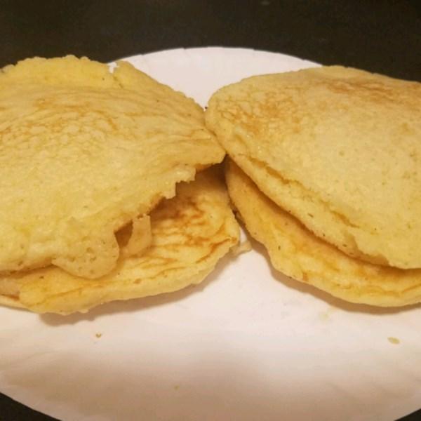 Receita de Panquecas de Pão de Milho