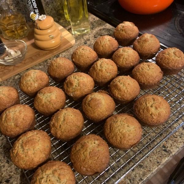 Receita de Muffins de Migalhas de Banana
