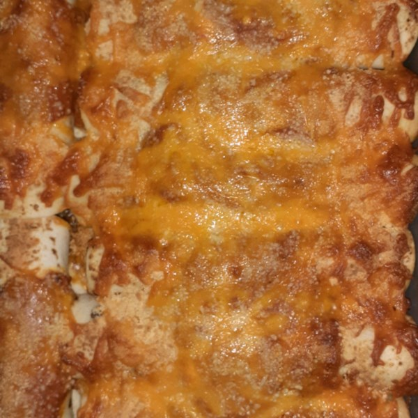 Receita cremosa de Carne de Cheddar Enchiladas