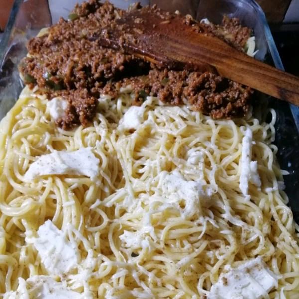 Receita de Espaguete Assado