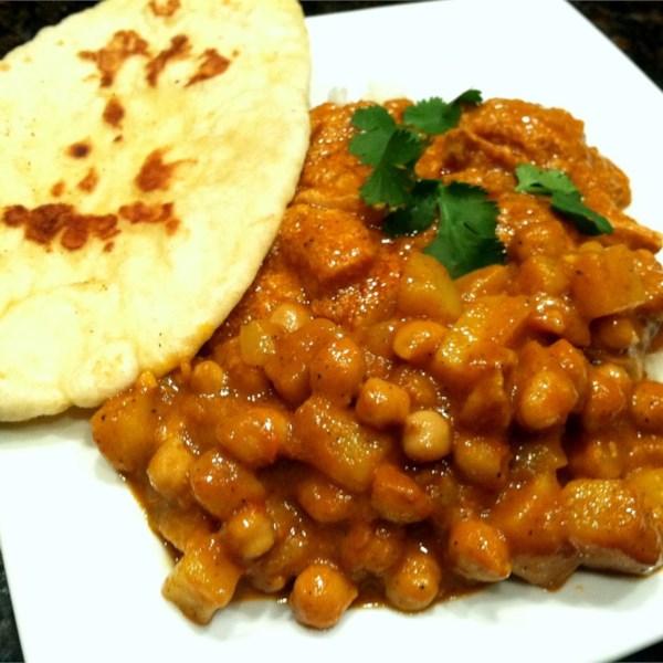 Receita de Curry de Grão-de-Bico de Manteiga