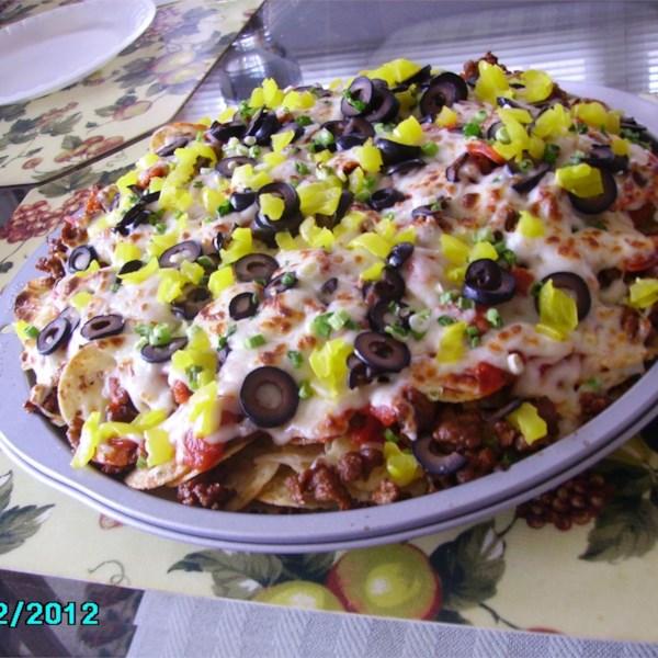 Receita italiana no estilo restaurante nachos