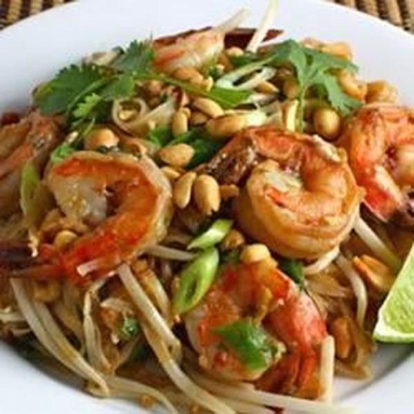 Receita tailandesa de camarão picante